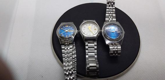 Lote 3 Relógios Orient Feminino Automáticos