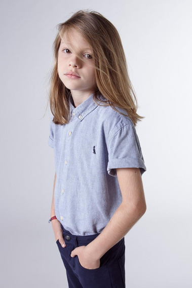 Camisa Mini Oxford Mc Reserva Mini