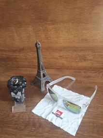 Kit Relógio Masculino Esportivo Militar E Óculos De Sol