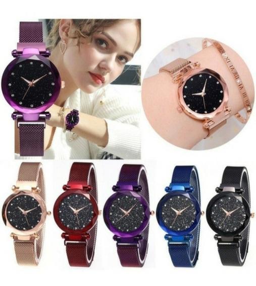 Kit 2 Relógios Femininos Barato Pulseira Magnética