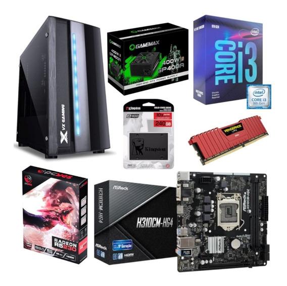 Pc Spectrum I3 9100f H310cm Hg4 Vg 8gb R5 230 Gp400 Ssd240