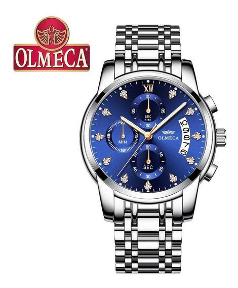 Homens Negócios Casual Liga Quartzo Waterpoof Relógio Mult