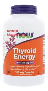 Thyroid Energy 180caps Now Foods Saúde Da Tireoide Importado