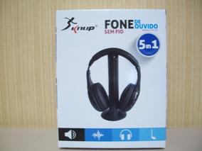 Headphone C/ Microfone 5 Em 5 Knup Kp323