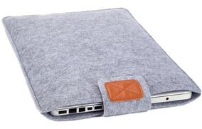 Capa Luva Protetora De Feltro Cinza Para Notebooks De 13 Pol