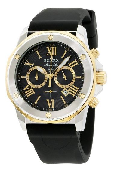 Relógio Bulova 98b277 Masculino Marine Star Misto Dourado