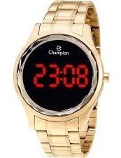 Relógio Champion Feminino Dourado Digital Ch40008j