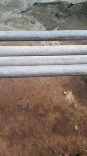 4tubos De Hierro Galvanizado 3/4 X 6 Metros 40 Centímetros