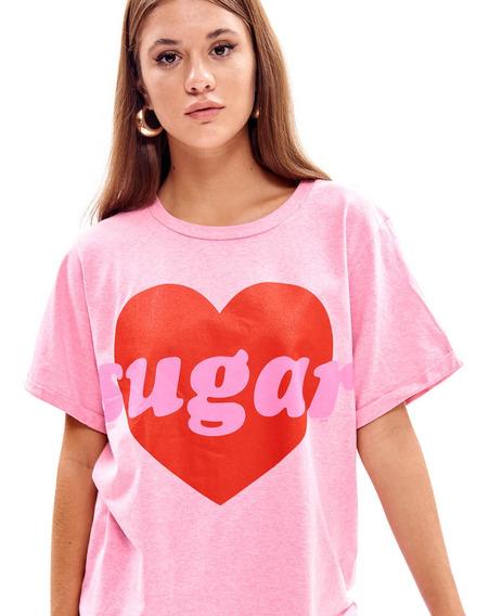 Remera Sugar Oversize Manga Corta Mujer 47street