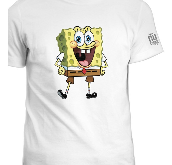 Camisetas Estampada Bob Esponja Nick Nickelodeon Hombre Ink