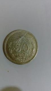 Moneda De Plata Ley 0.720 - 50 Centavos - Año 1920 - 8.33 G.
