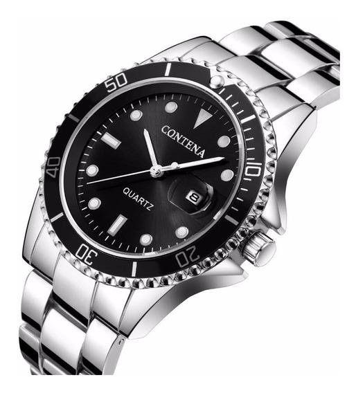 Relógio De Pulso Quartz Unissex Marca De Luxo Contena