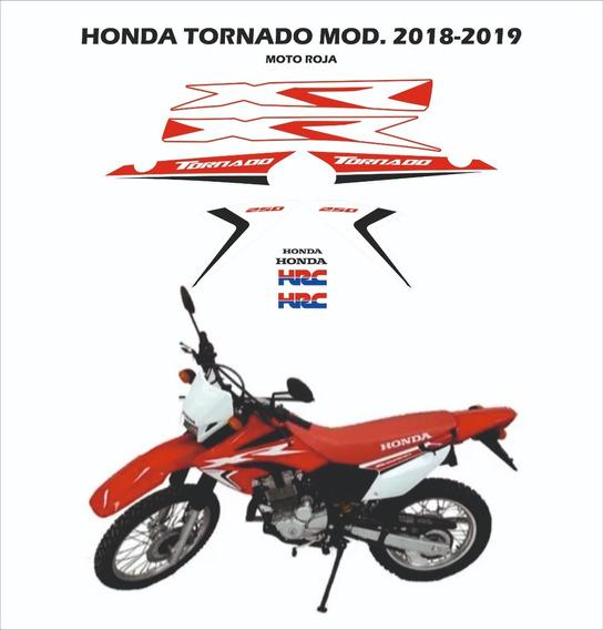 Kit Gráfica Honda Tornado 2018-2019 Moto Roja