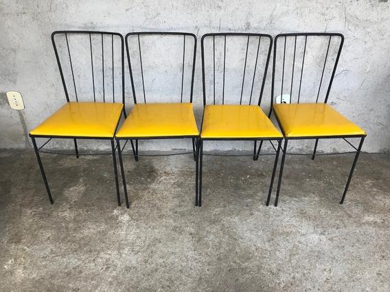 Joaquim Tenreiro - Conj De 4 Cadeiras De Ferro Da Dec.50
