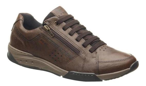 Sapato Masculino Pegada 100% Couro Ref: 170803-05 Marrom
