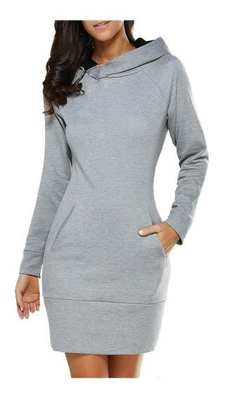 Cómodo Vestido Sudadera Moda Para Mujer Tela Stretch 5119