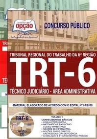 Apostila Trt 6ª 2018 Técnico Judiciário- Área Administrativo