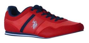Tenis Us Polo Bruno Rojo Y Azul Marino Caballero