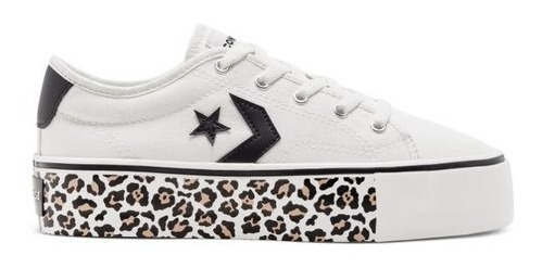 Zapatillas Converse Star Replay Plataforma Blanca Leopardo