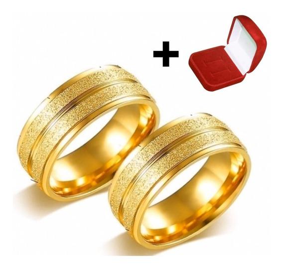 Par Alianças Moeda Antiga 8mm Noivado Casamento Cor Ouro 18k