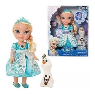 Muñeca Elsa Frozen Grande Canta Ingles Y Español