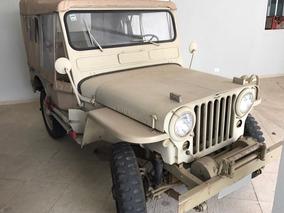 Jipe Willys 4x4 Overland 1951 Com Capota Removível 5 Portas