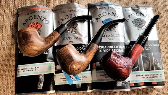 Pipas De Madera En Caja Curvas Y Rectas 1ª Calidad+tabaco