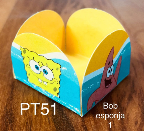 Imagem 1 de 11 de 100 Forminhas Para Doces Festa Tema Bob Esponja 1 Temáticas