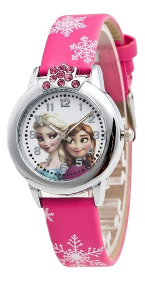 Relógio Infantil Feminino Elsa E Ana Com Strass Sku107