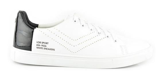 Tenis Urbanos Para Hombre Lob Footwear 656-9526 Blanco Nuevo Oi19