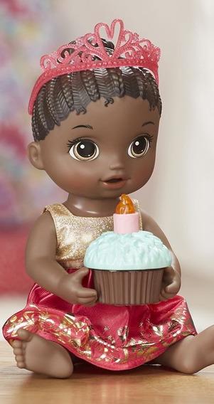 Boneca Baby Alive Negra Festa Supresa Hasbro - E0292