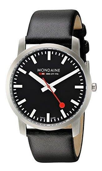 Mondaine Ultra Thin 41mm Simply Elegant Negro Carcasa De Ord