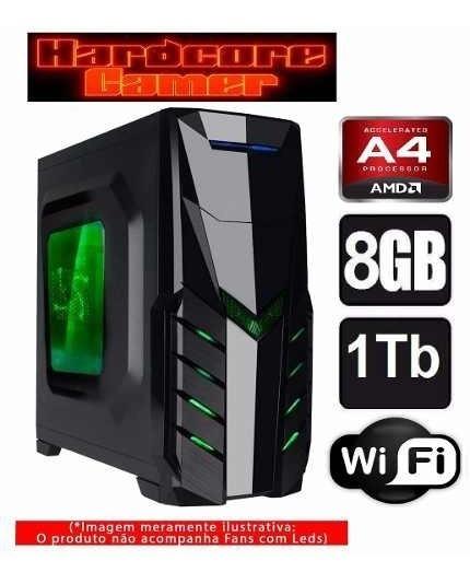 Cpu Gamer + Monitor A4 7300/ 1tb/ 8gb/ Hd 8470d/ Hdmi/