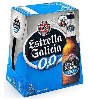 Pack X 6 Estrella Galicia Porron Sin Alcohol 250 Ml
