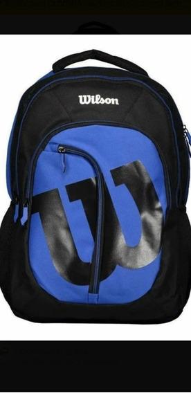 Mochila Wilson Mc20009 Azul/preto.