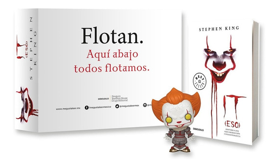 Pack Libro It Eso + Coleccionable Funko Pop Pennywise 777
