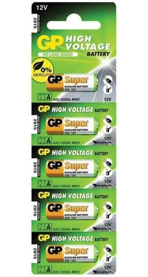 Pilha 12v 23af Controle Portão Gp Batteries Cartela C/ 5