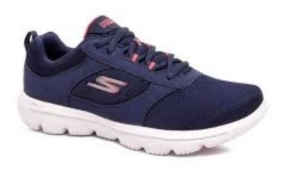 Tênis Skechers Go Walk Evolution Ultra Feminino Azul Origina