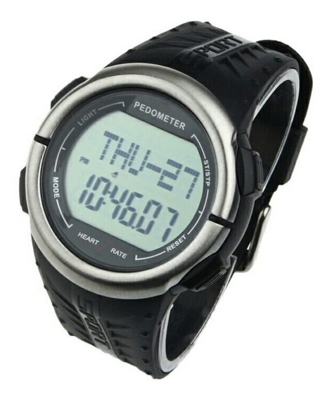 Relógio Pedômetro Medidor Batimentos Cardíaco Calorias Km
