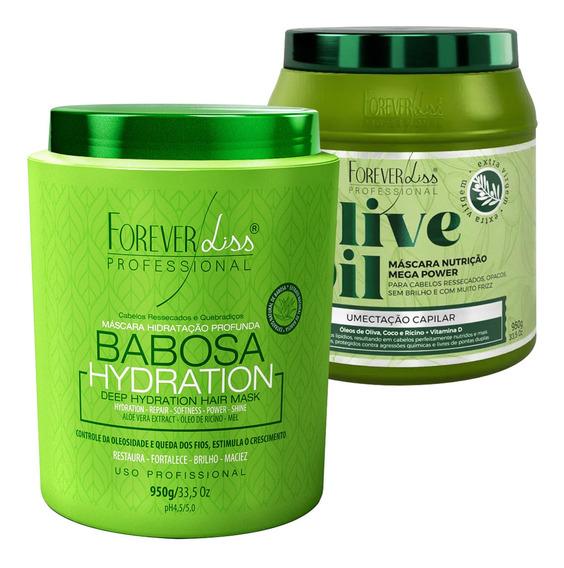 Kit Hidratante Forever Liss Mascara Babosa Olive Oil 950g