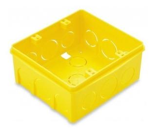 Caixa Plástica Luz 4x4 Embutir Amarela Tramontina Pct Com 20
