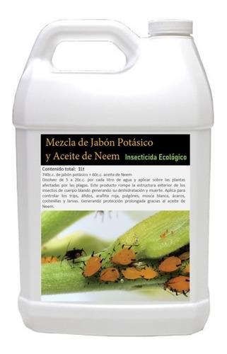 Jabon Potasico Y Aceite De Nemm (mezcla) 1 Litro