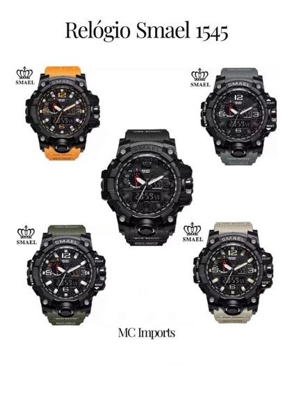 Relógio Smael 1545 - Militar Esportivo