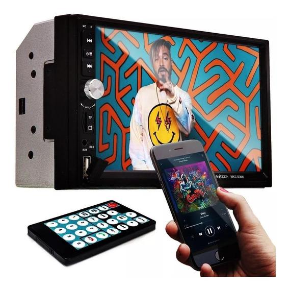 Central Multimídia 2din Universal Mp5 Lcd 7 Bluetooth Usb Fm