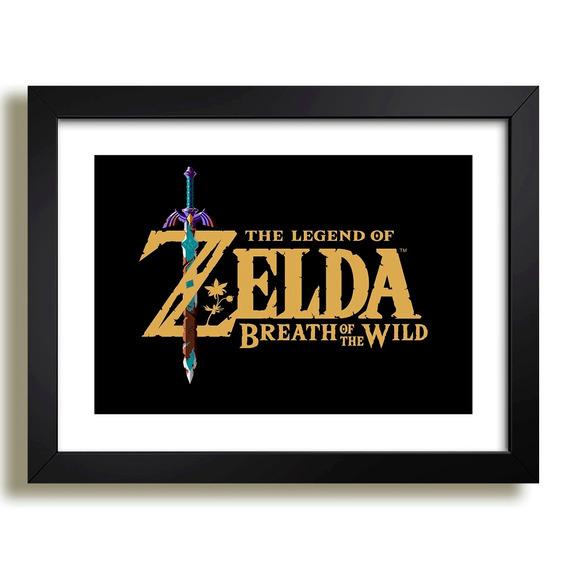 Quadro Zelda Link Game Rpg Filme Serie Nintendo Sala Jogos