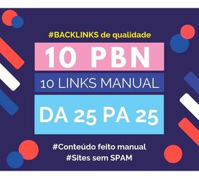 10 Backlinks De Pbn - Link Seo Com Qualidade Da 18 A 30