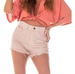 Shorts Fem Setentinha Colorido Denim Zero - Dz6215-11