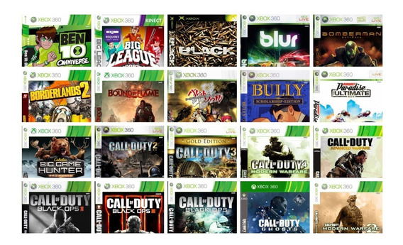 Jogos Xbox 360 Destravado Kit 2 Jogos Midia Fisica