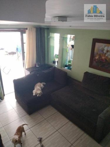 Sobrado Com 3 Dormitórios À Venda, 100 M² Por R$ 220.000 - Jardim Vila Rica - Santo André/sp - So0425