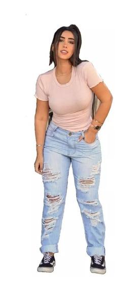 Calça Jeans Clara - Modelo Boyfriend Destroyed - Sensação Das Blogueiras - Lançamento Primavera Verão